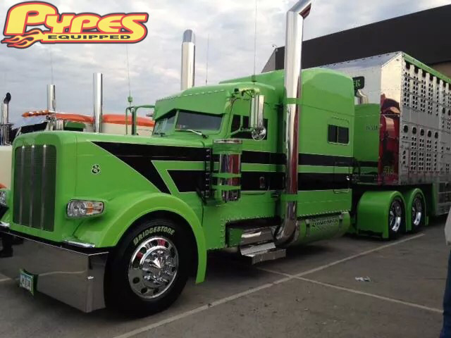 10 Quot 304ss Polished Stack Kit Chino Top Pypes Big Rig